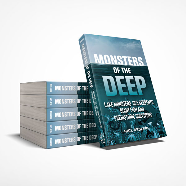 Book design sample of Monsters of the Deep
