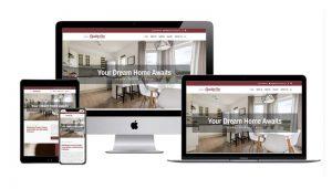 Quality One Custom Homes website design on iMac, iPad, MacBook and iPhone