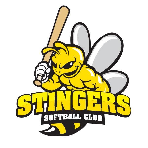 Stingers Softball logo design