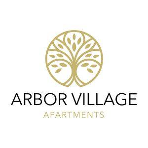 Arbor Village Apartments logo design
