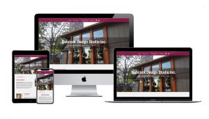 Website design sample Babcock Design Studio