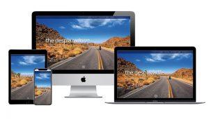The Desplazados website design sample